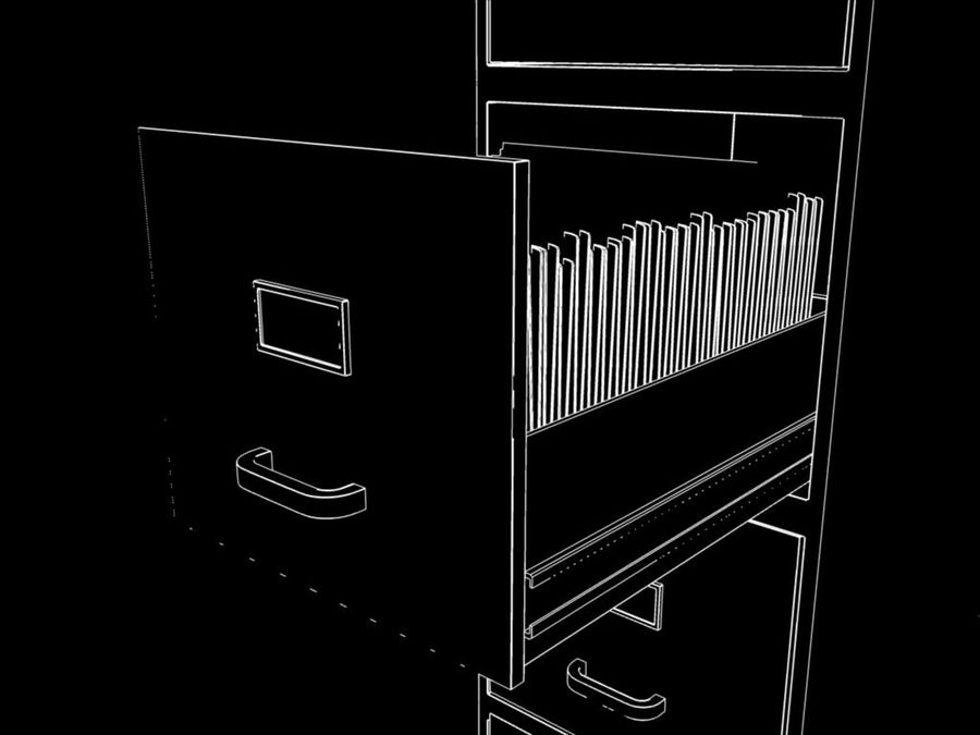 Filing Cabinet royalty-free 3d model - Preview no. 5