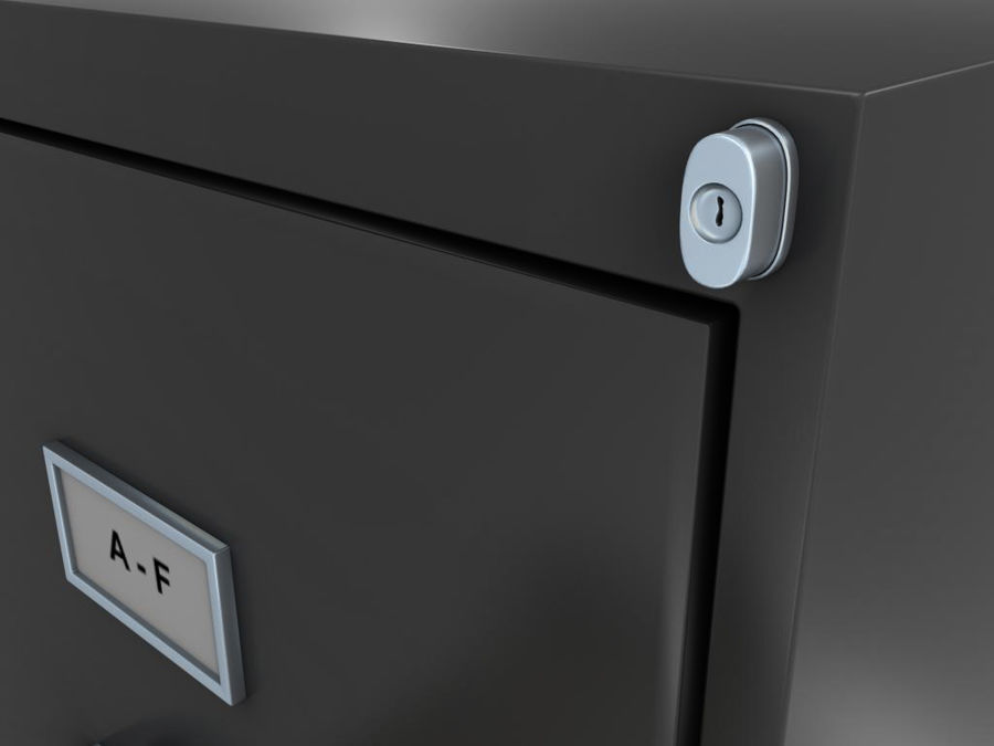 Filing Cabinet royalty-free 3d model - Preview no. 3