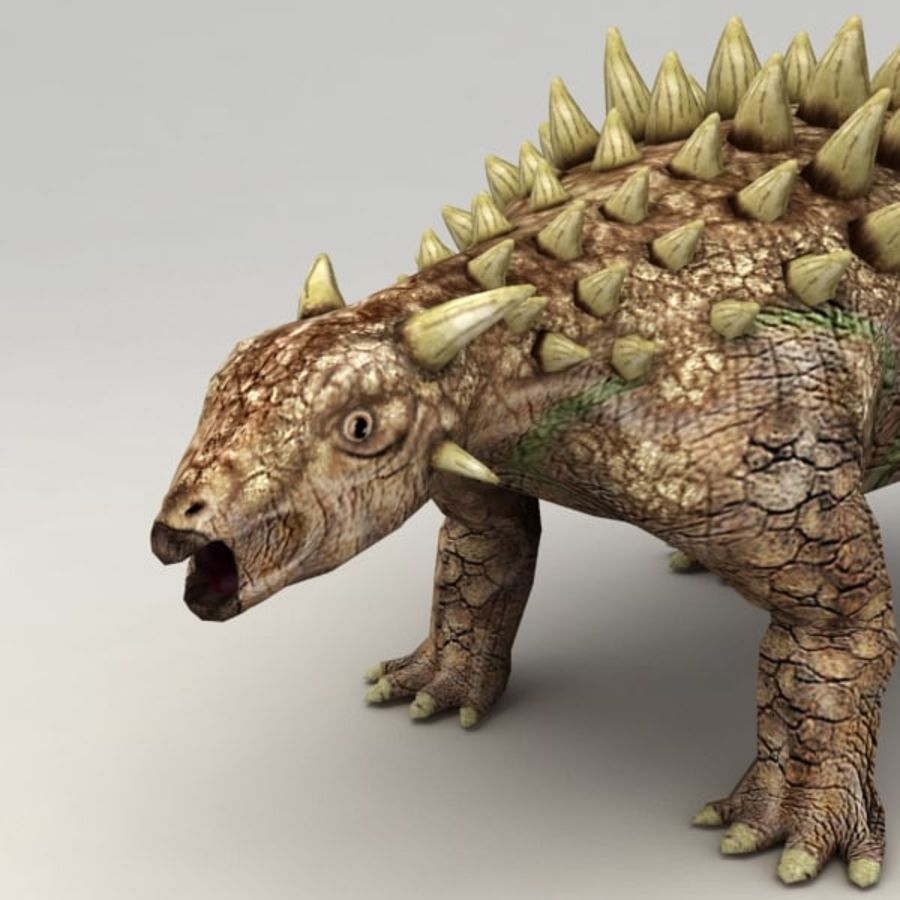 Ankylosaurus lowpoly rigged royalty-free 3d model - Preview no. 4