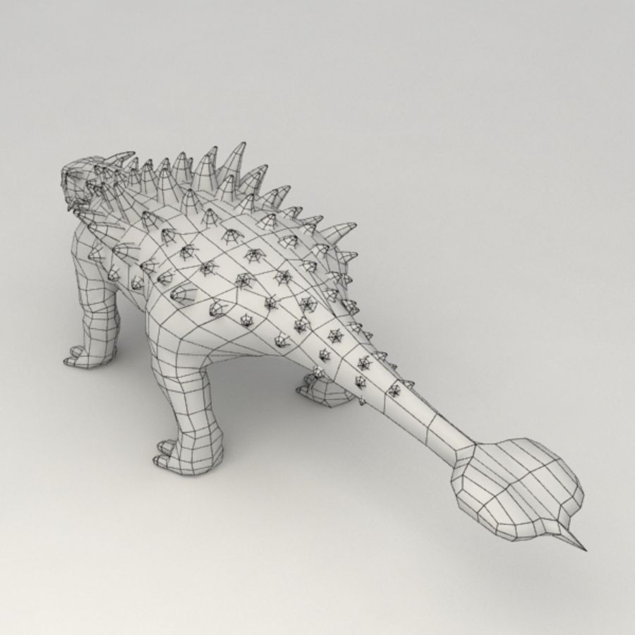 Ankylosaurus lowpoly rigged royalty-free 3d model - Preview no. 8