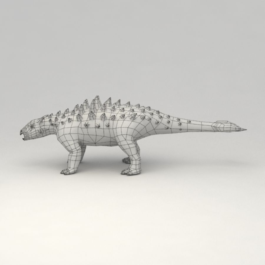 Ankylosaurus lowpoly rigged royalty-free 3d model - Preview no. 9