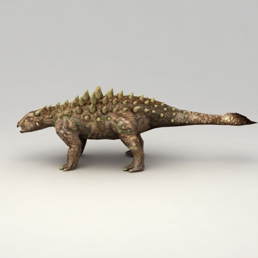 Ankylosaurus lowpoly rigged royalty-free 3d model - Preview no. 5
