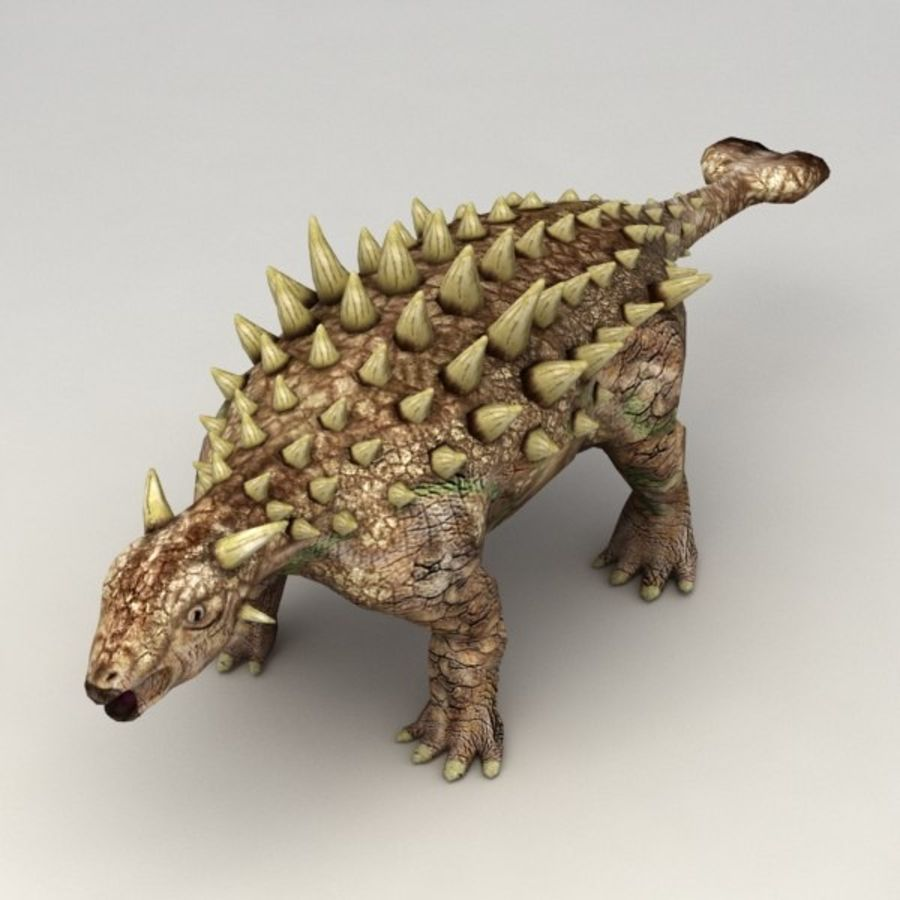 Ankylosaurus lowpoly rigged royalty-free 3d model - Preview no. 2