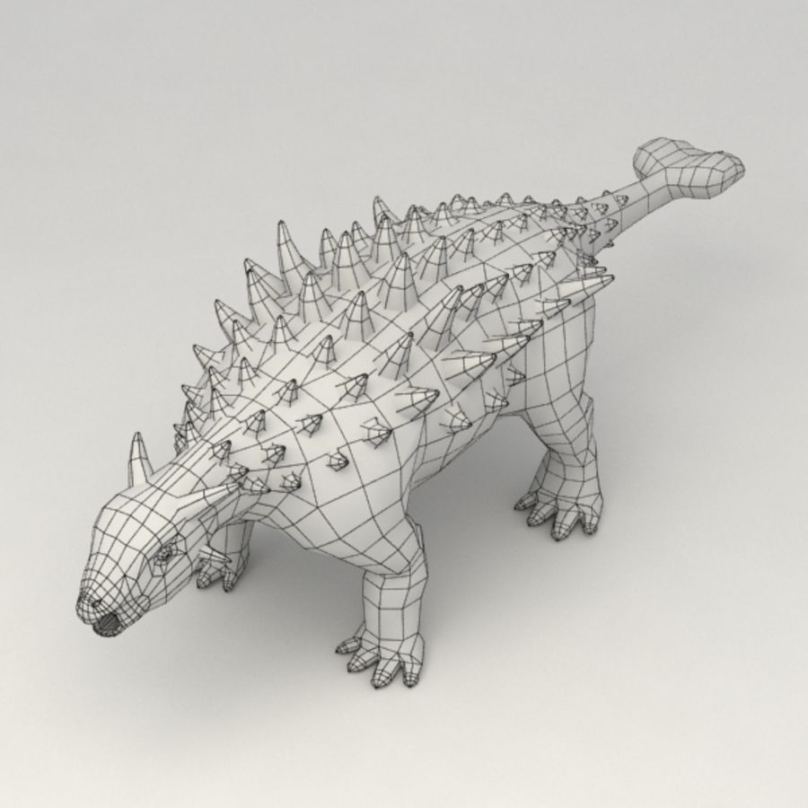 Ankylosaurus lowpoly rigged royalty-free 3d model - Preview no. 7
