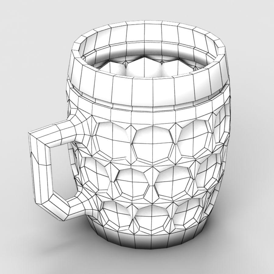 Beer mug royalty-free 3d model - Preview no. 6