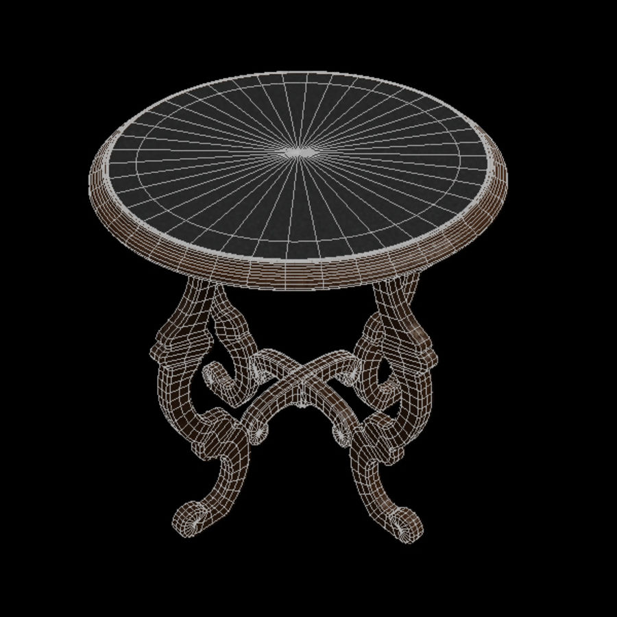 Circular End Table royalty-free 3d model - Preview no. 5