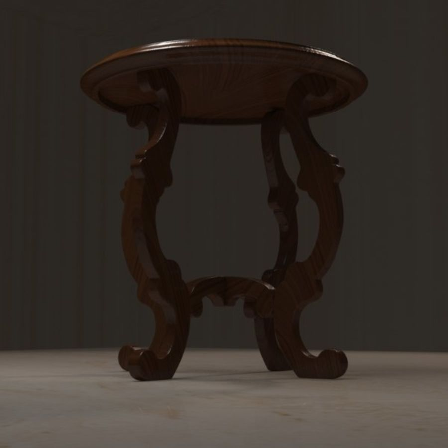 Circular End Table royalty-free 3d model - Preview no. 2
