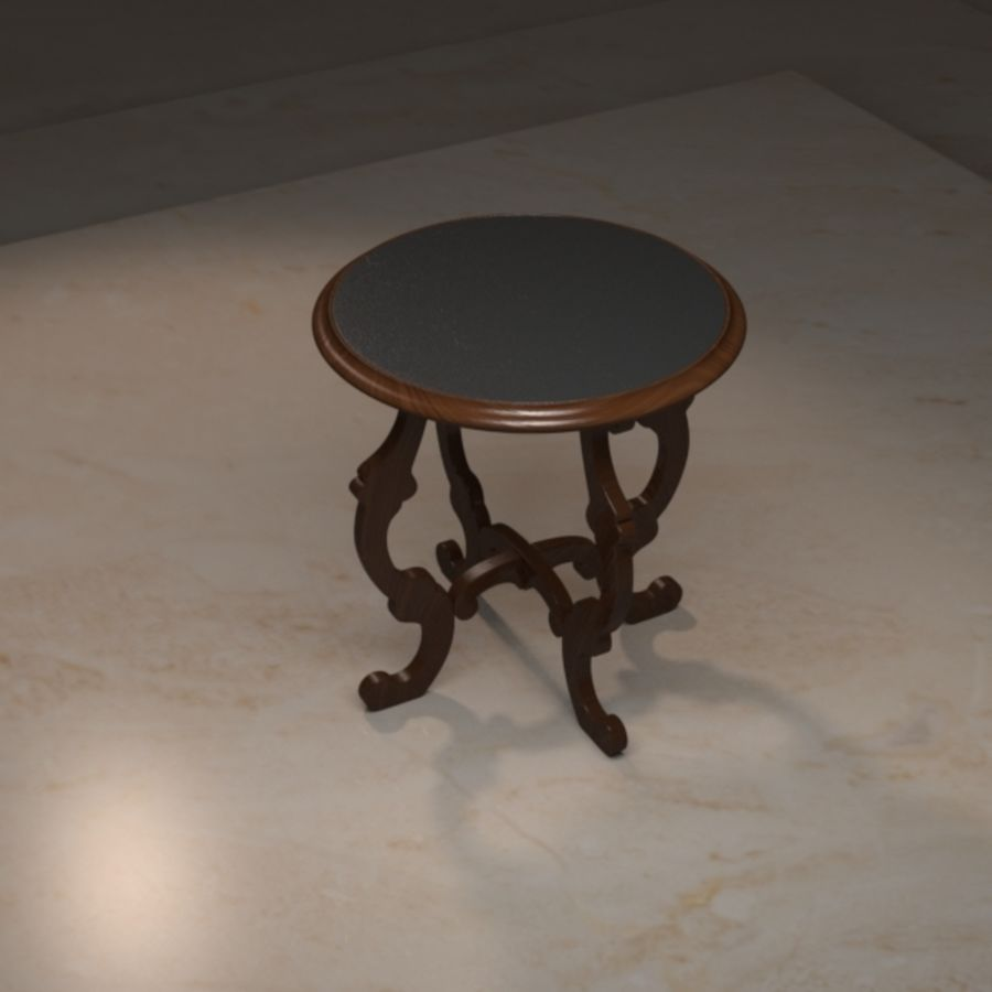 Circular End Table royalty-free 3d model - Preview no. 3
