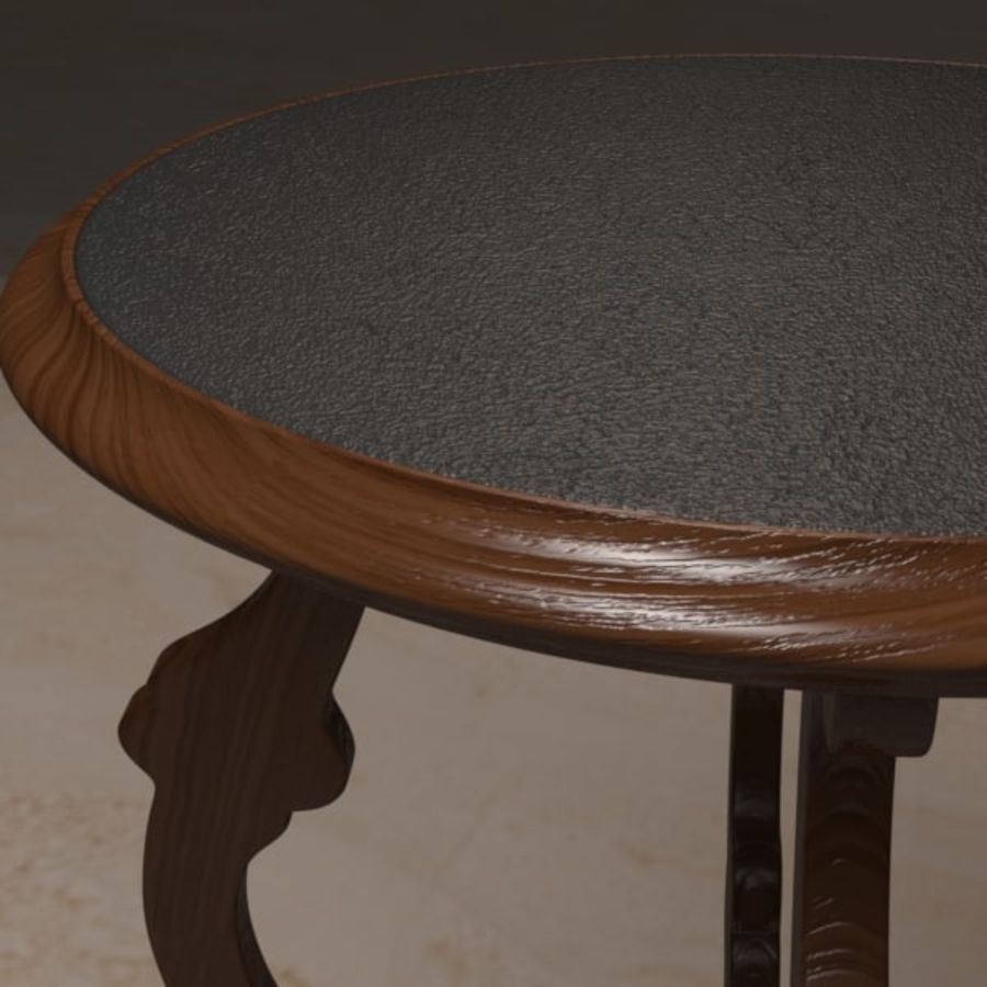 Circular End Table royalty-free 3d model - Preview no. 4