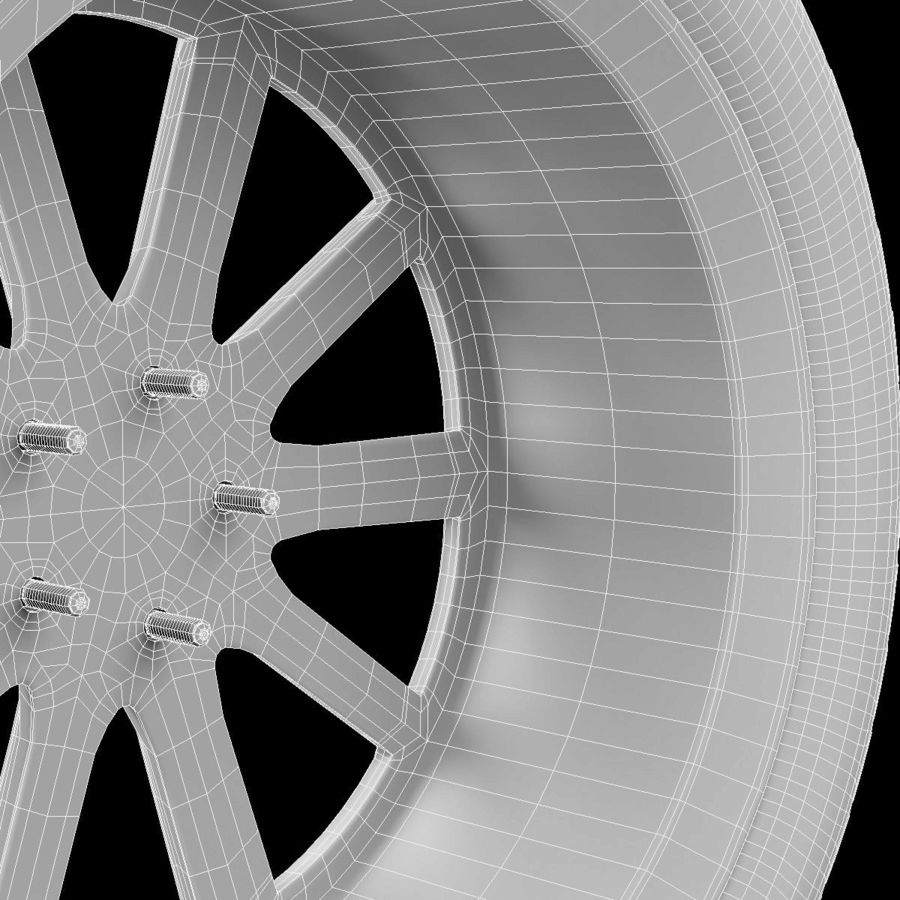 Car Wheel royalty-free 3d model - Preview no. 7