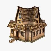 Tavern (low poly) 3d model