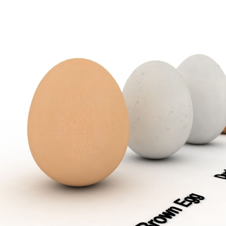 Eggs royalty-free 3d model - Preview no. 2