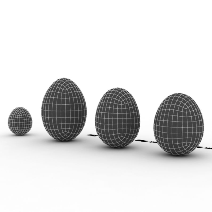 Eggs royalty-free 3d model - Preview no. 15