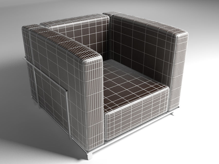 Single Sofa Leather Modern Chair Royalty Free 3d Model   Preview No. 6