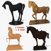 Collection de statuettes de chevaux MISC 3d model