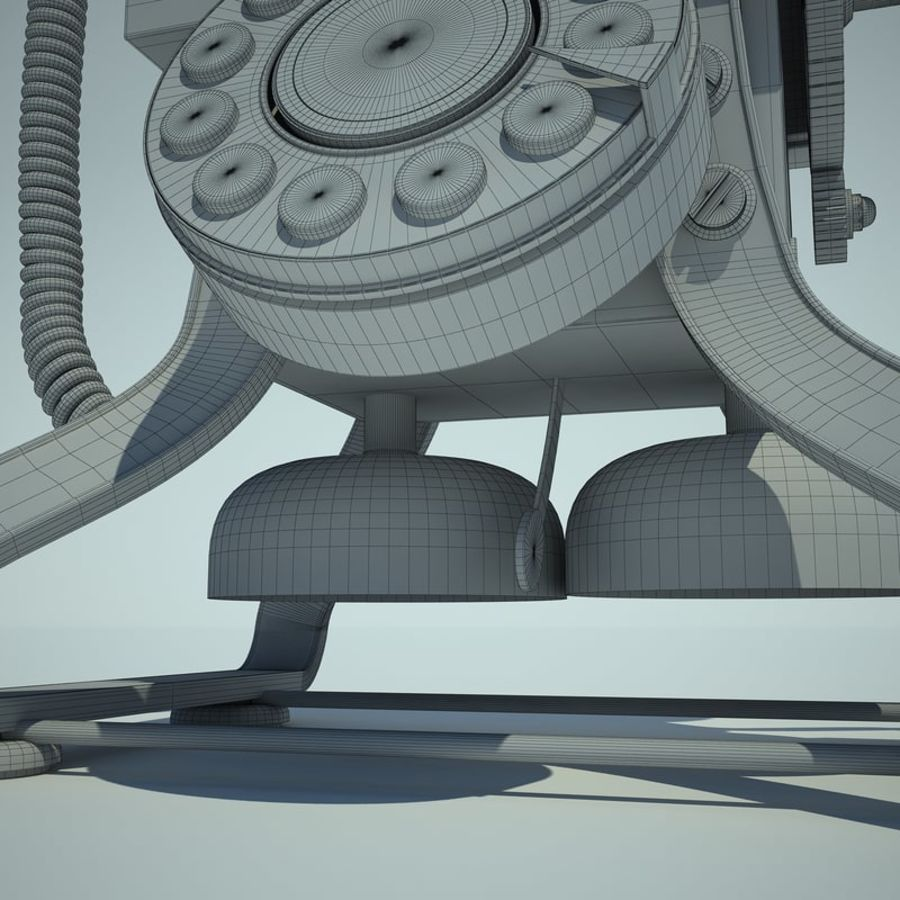 Retro Phone 01 royalty-free 3d model - Preview no. 13