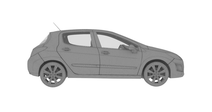 Peugeot 308 royalty-free 3d model - Preview no. 5