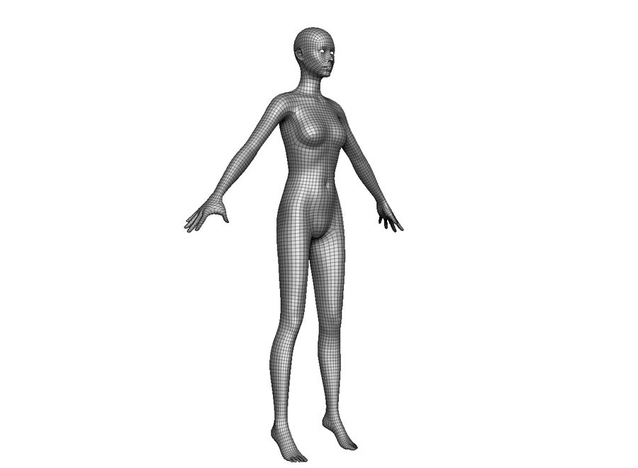 女性ベースモデル royalty-free 3d model - Preview no. 1