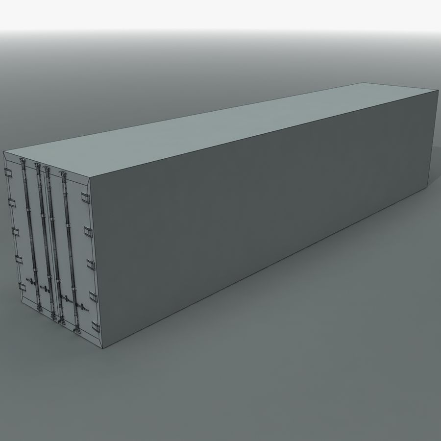 Rigged Shipping Container royalty-free 3d model - Preview no. 8