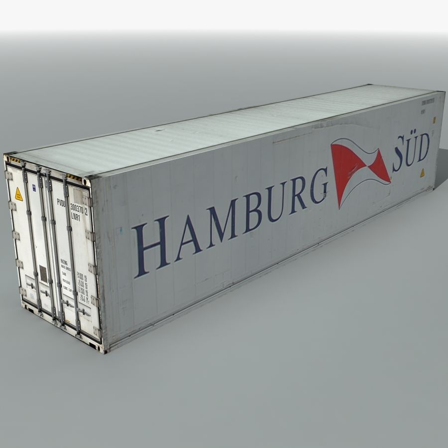 Rigged Shipping Container royalty-free 3d model - Preview no. 2