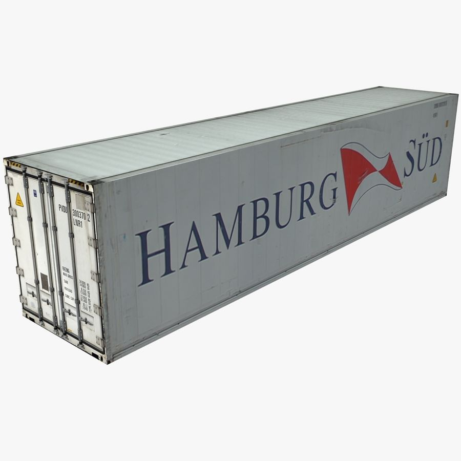 Rigged Shipping Container royalty-free 3d model - Preview no. 1