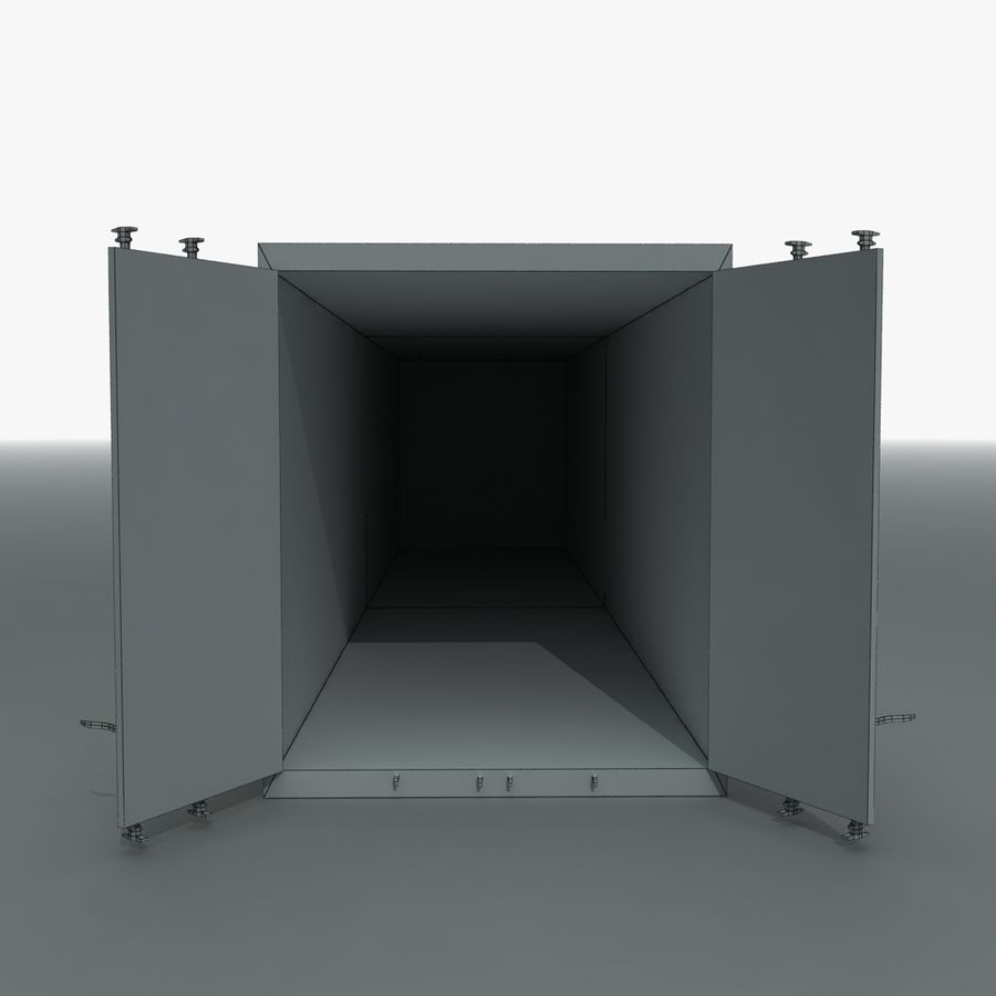 Rigged Shipping Container royalty-free 3d model - Preview no. 11