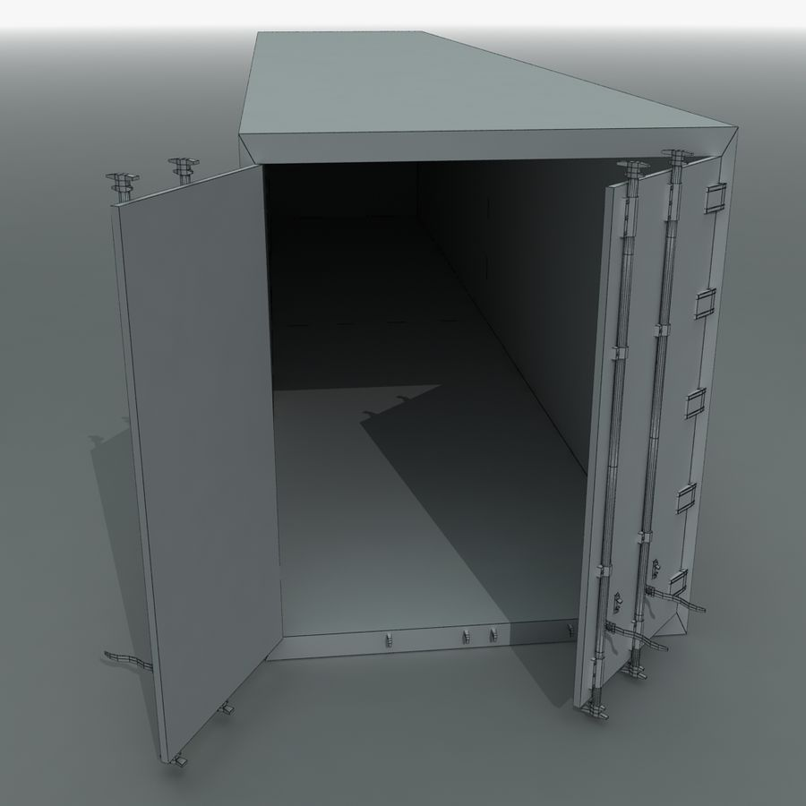 Rigged Shipping Container royalty-free 3d model - Preview no. 10