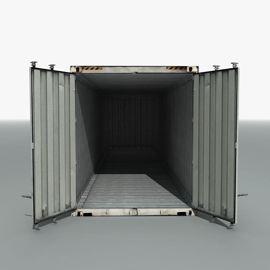 Rigged Shipping Container royalty-free 3d model - Preview no. 6