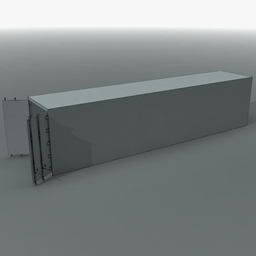 Rigged Shipping Container royalty-free 3d model - Preview no. 12