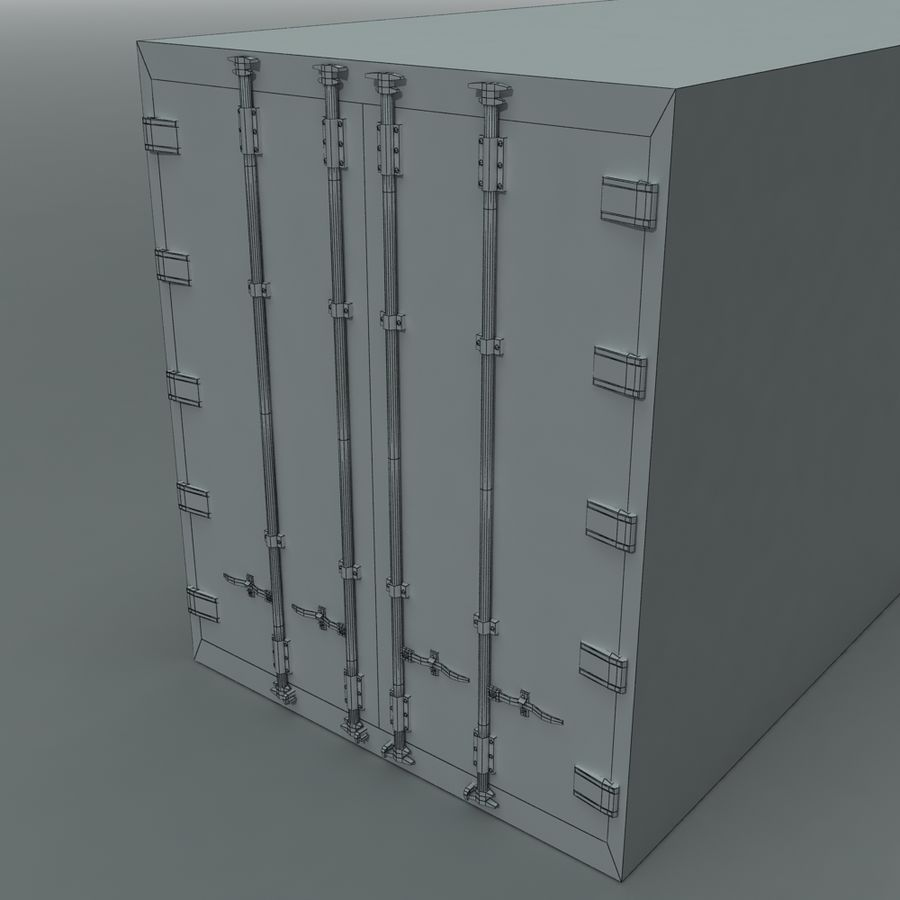 Rigged Shipping Container royalty-free 3d model - Preview no. 9