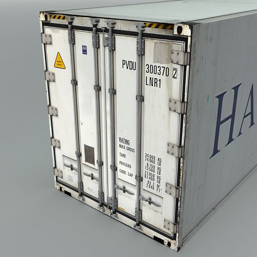 Rigged Shipping Container royalty-free 3d model - Preview no. 3