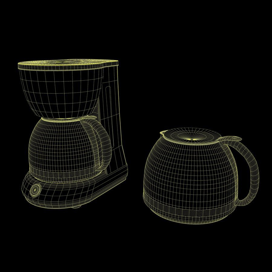 Coffeemaker royalty-free 3d model - Preview no. 13