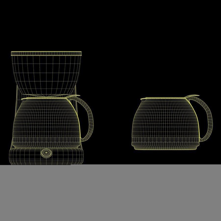 Coffeemaker royalty-free 3d model - Preview no. 9