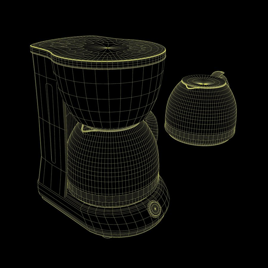 Coffeemaker royalty-free 3d model - Preview no. 10