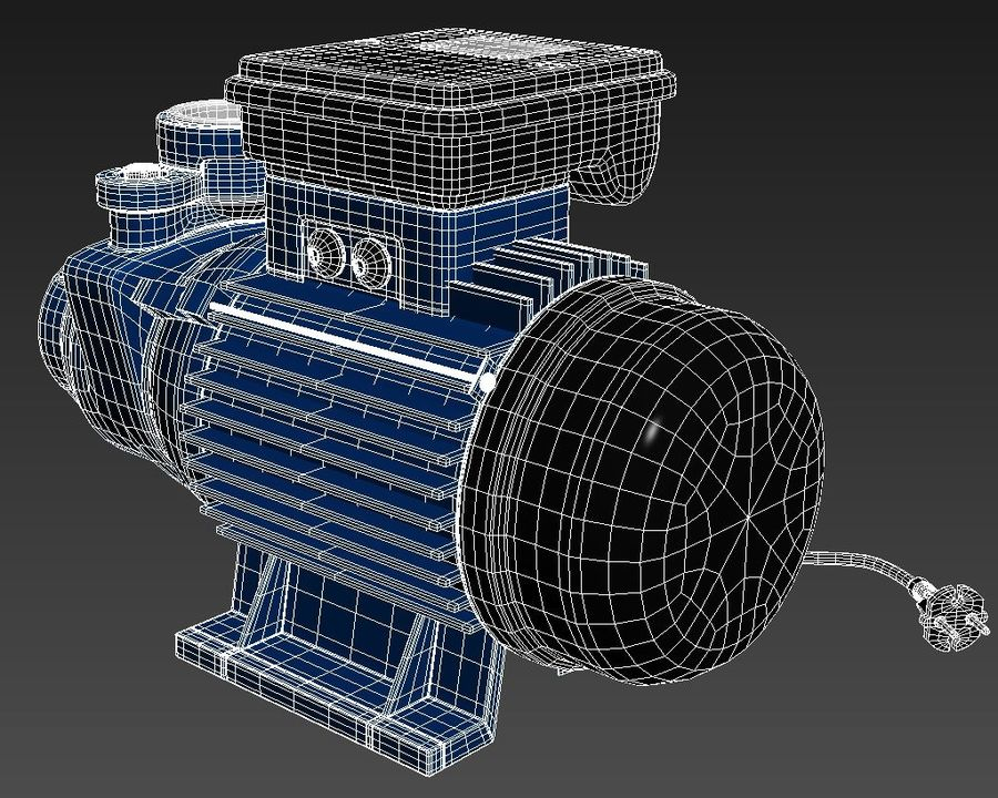 Water Pump royalty-free 3d model - Preview no. 11