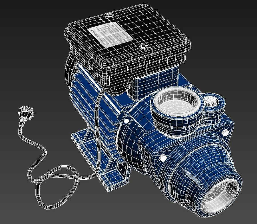 Water Pump royalty-free 3d model - Preview no. 10