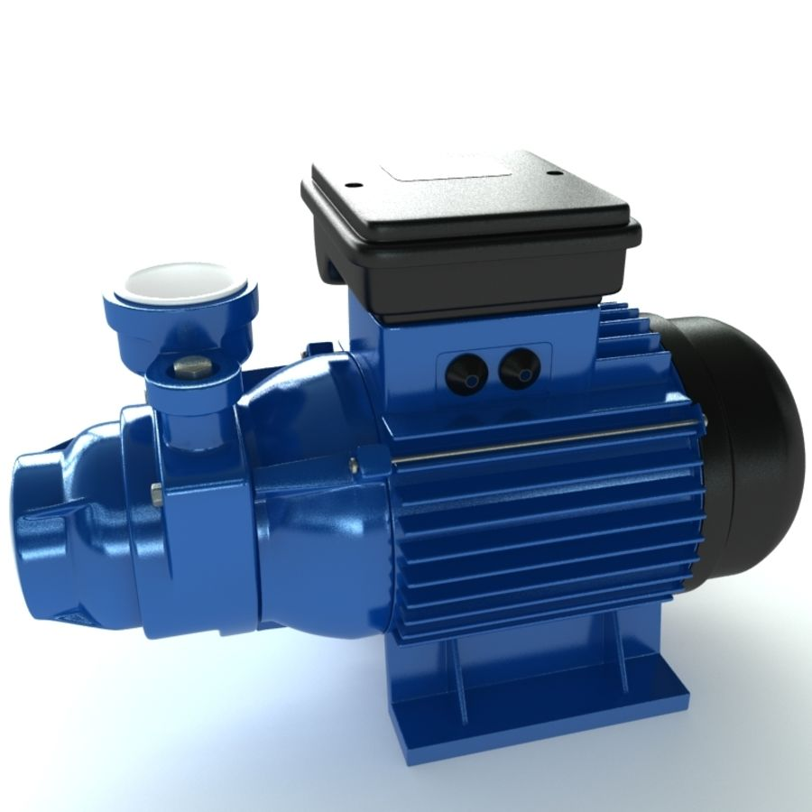 Water Pump royalty-free 3d model - Preview no. 2