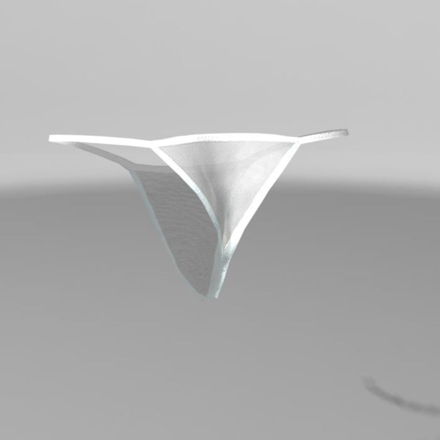 Panties royalty-free 3d model - Preview no. 2