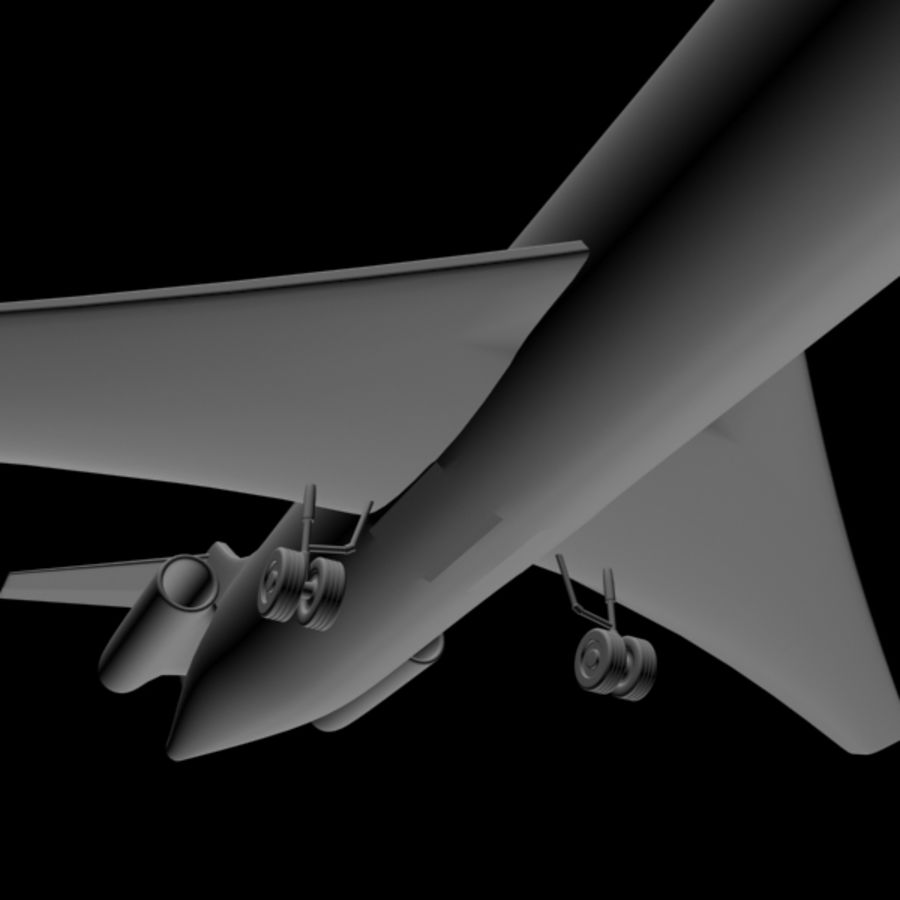 Airplane royalty-free 3d model - Preview no. 3
