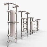 Traditional heated towel rails 3d model