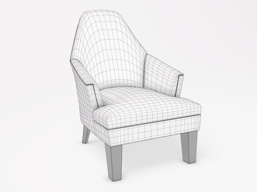 Wychwood Design Armchair royalty-free 3d model - Preview no. 5