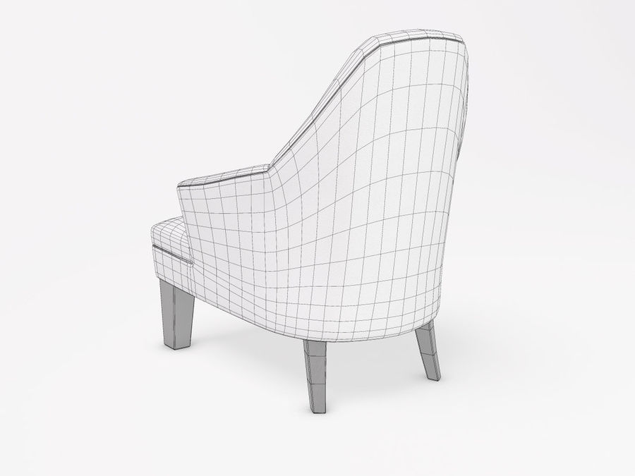 Wychwood Design Armchair royalty-free 3d model - Preview no. 6