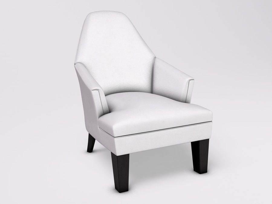 Wychwood Design Armchair royalty-free 3d model - Preview no. 1