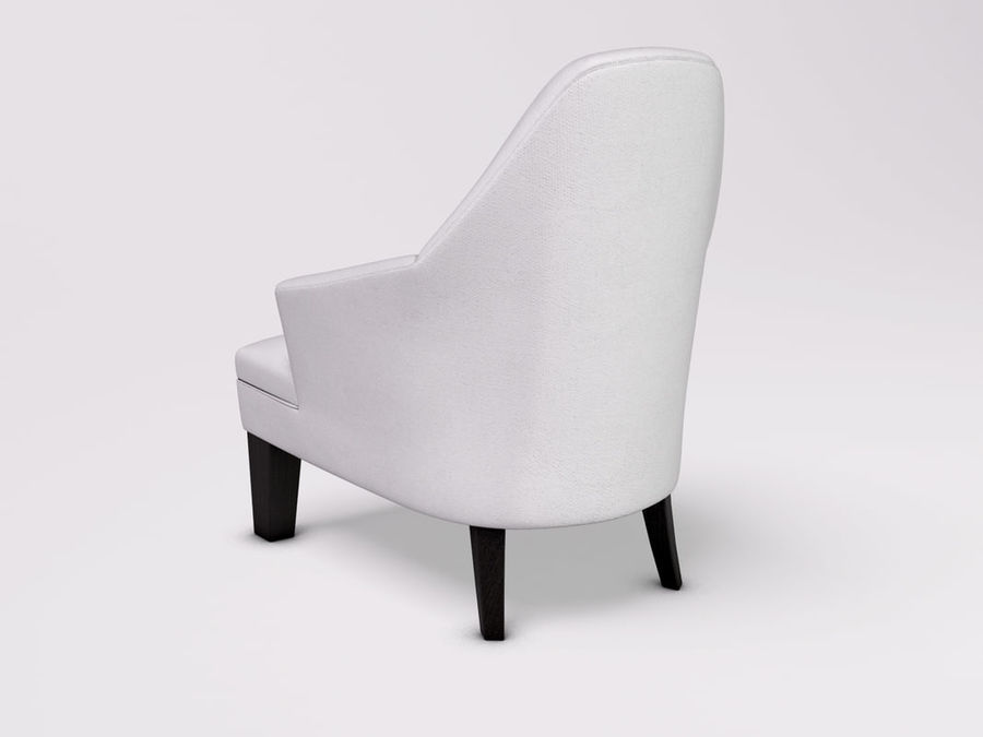 Wychwood Design Armchair royalty-free 3d model - Preview no. 3