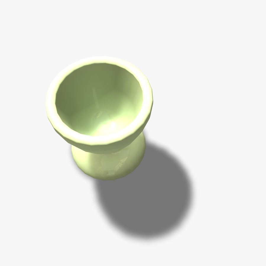 Simple Egg Cup royalty-free 3d model - Preview no. 3