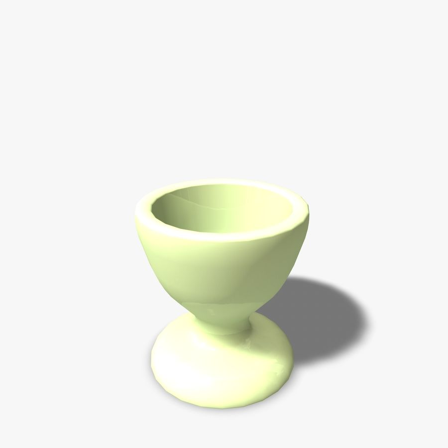 Simple Egg Cup royalty-free 3d model - Preview no. 6
