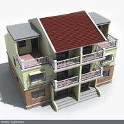 Residential house 03 3d model