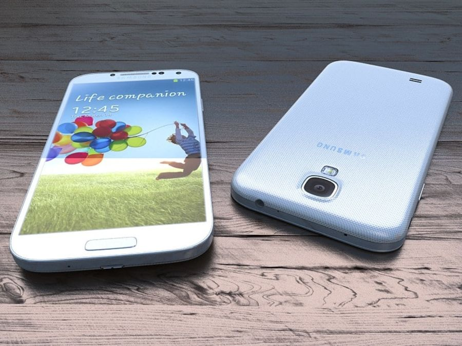 Samsung Galaxy S3 and S4 royalty-free 3d model - Preview no. 29
