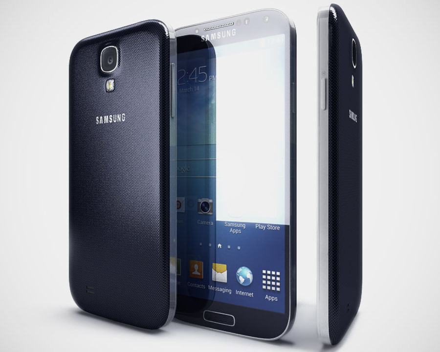 Samsung Galaxy S3 and S4 royalty-free 3d model - Preview no. 26