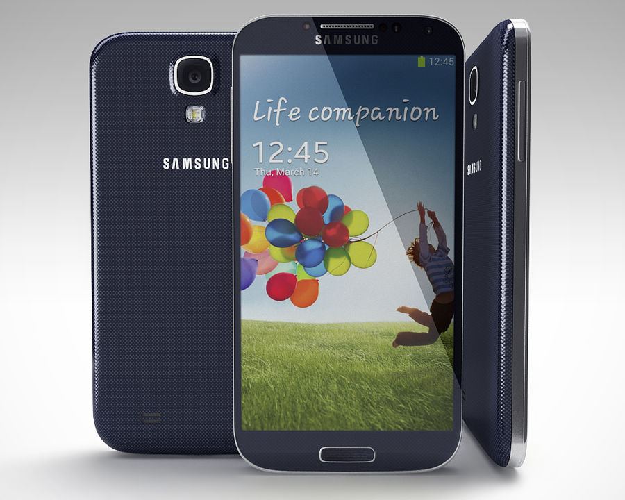 Samsung Galaxy S3 and S4 royalty-free 3d model - Preview no. 2